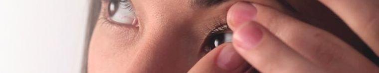 Kontaktlinsen-tragen