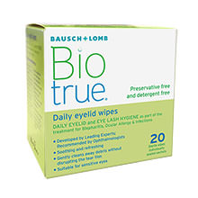 Biotrue Daily Eyelid Wipes (20 Tücher)
