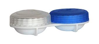 Flacher Kontaktlinsenbehälter